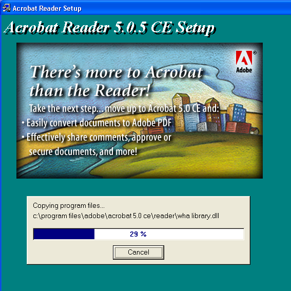 download adobe acrobat reader version 8 or 9